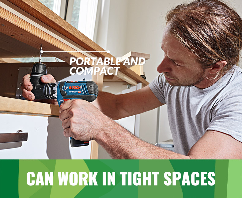Bosch can work in tight spaces