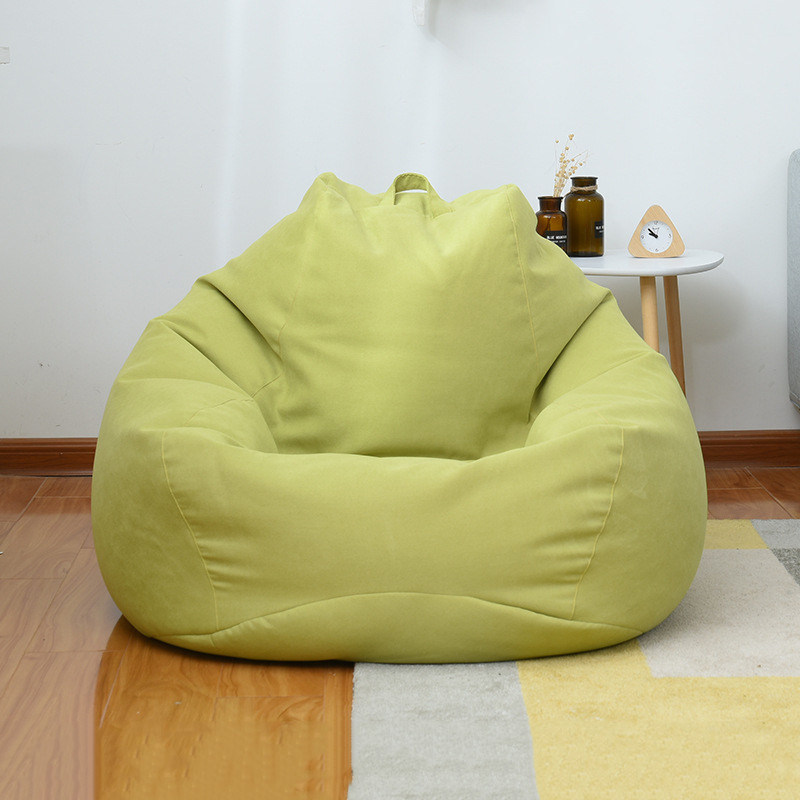 8 Colors Small Lazy Bean Bag Sofas Cover Chairs With Filler Linen Cloth Lounger Seat Bean Bag Pouf Couch Living Room Products