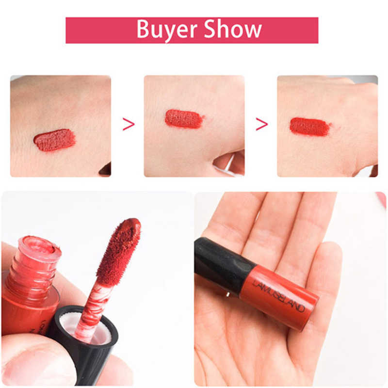 Hot 12 couleur brillant à lèvres brillant à lèvres échantillon mat longue durée anti-adhésif tasse liquide rouge à lèvres Sexy étanche cosmétique TSLM1