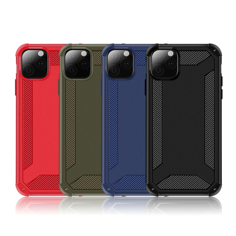 Dust-Proof Phone Case Anti-Knock Hard Protector Carbon Fiber Cellphone Back Cover Shell Iphone 11/11 Pro/11 Pro Max (US STOCK)
