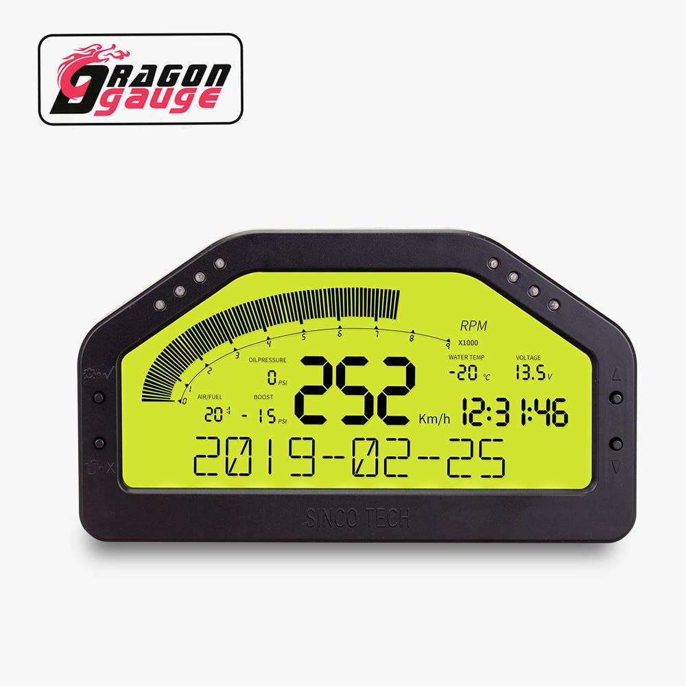 DRAGON Дракон Rally гоночная приборная панель ЖК-дисплей 9 в 1 датчик набор многофункциональная приборная панель гонки Bluetooth соединение