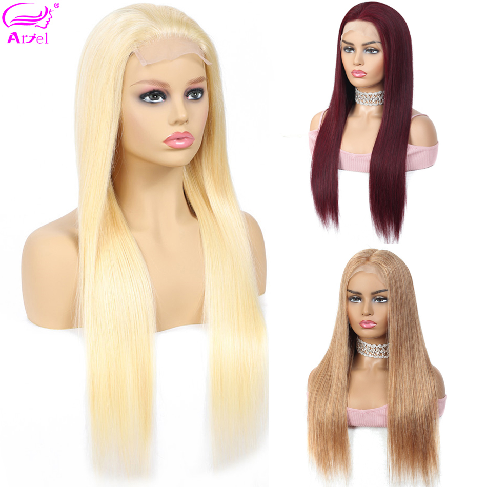 Straigh 613 Lace Front Wig 99J 13*4 Lace Front Human Hair Wigs Remy 27 30# Transparent Lace Wigs Brazilian Wig Blonde Lace Wigs