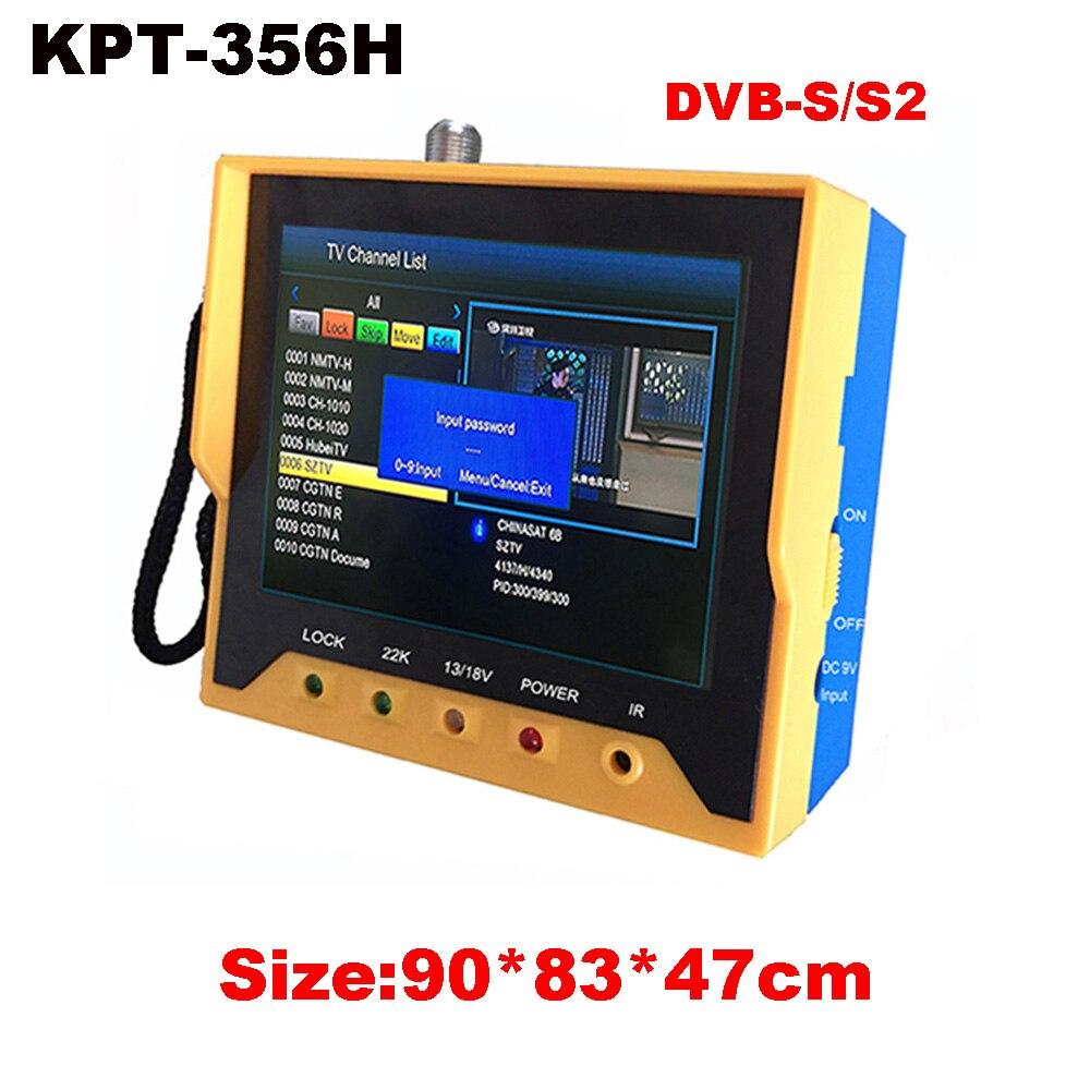 KPT 356H DVB-S2 Satfinder Fast Tracking Full HD Digital Satellite TV Receiver Finder Meter MPEG-4 Modulator DVB-S Sat Finder