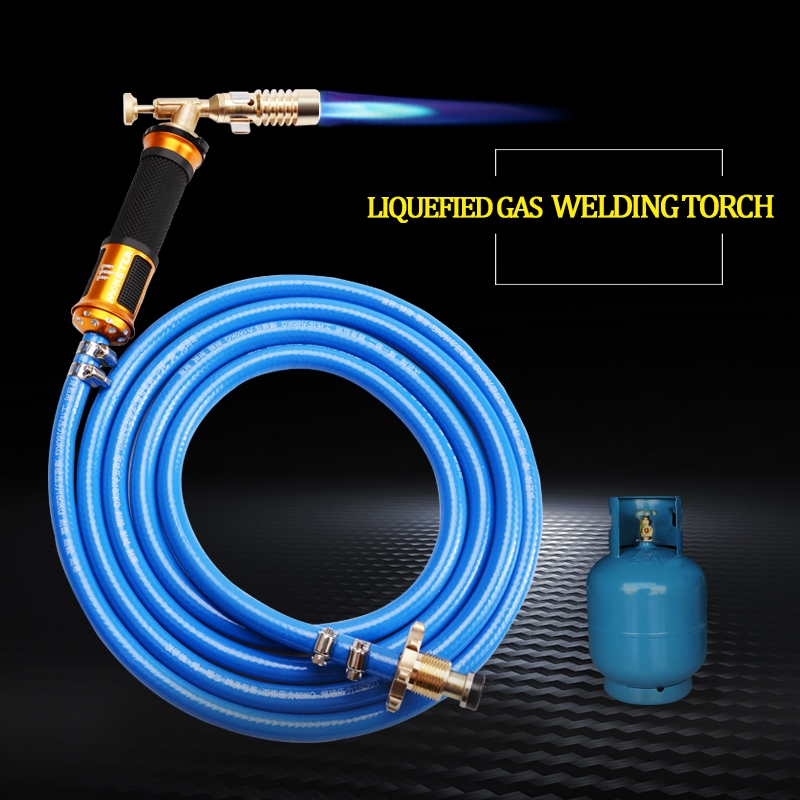 Electronic Ignition Liquefied Gas Welding Torch Kit With 3M Hose For Soldering Cooking Brazing Heating Lighting