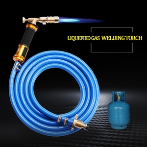 Electronic Ignition Liquefied Gas Welding Torch Kit with 3M Hose for Soldering Cooking Brazing Heating Lighting(China)