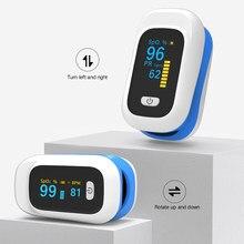 Boxym novo dedo oxímetro de pulso sangue spo2 oxigênio freqüência cardíaca saturação medidor oled portátil monitor saturometro