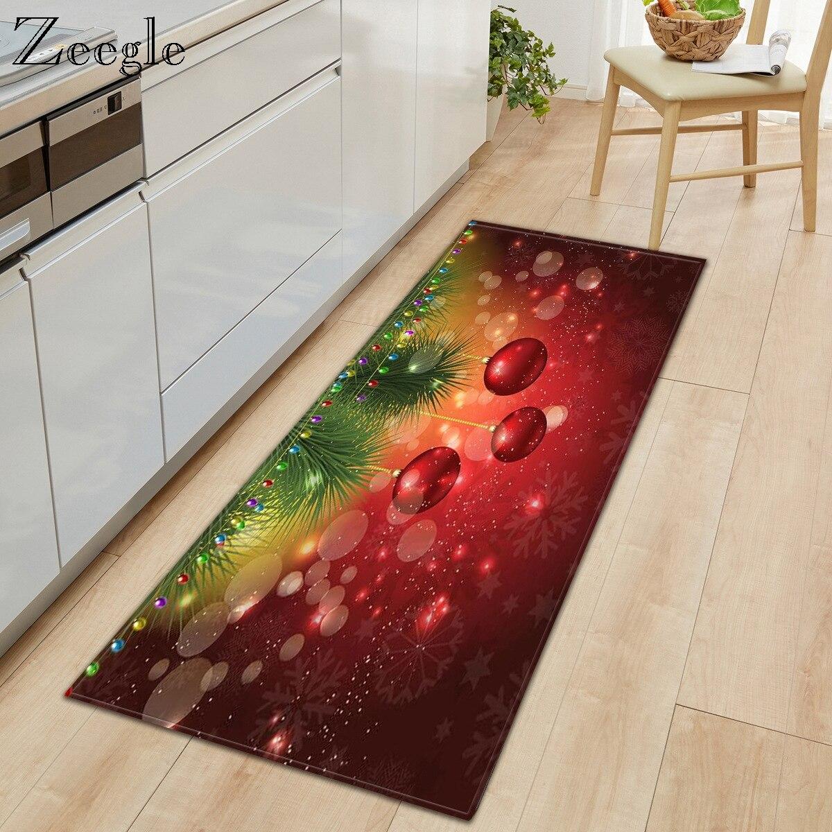 Zeegle Merry Christmas Carpet Modern Home Decoration Mat Cartoon Kitchen Mat Sofa Table Floor Mat Hallway Carpet Kids Room Mat