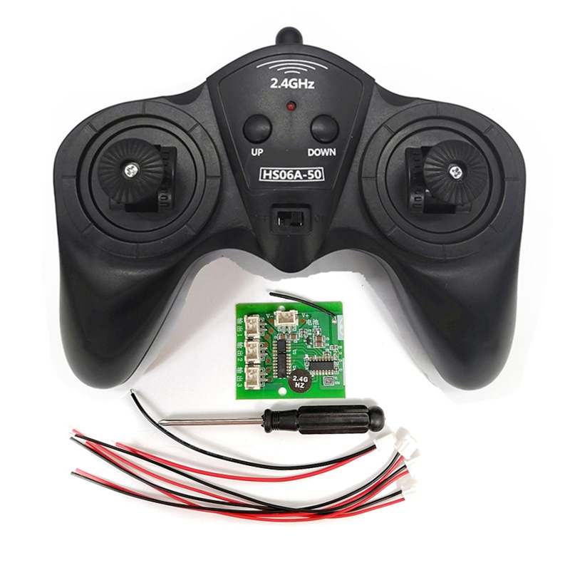 6CH 2.4G Remote Controller Power Transmitter Receiver Radio System For DIY RC Boat Cars 50M Controlling