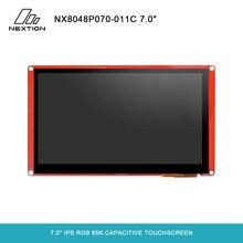 Nextion 7.0 inteligente série NX8048P070 011C hmi ips rgb 65k, módulo de tela sensível ao toque capacitivo sem gabinete
