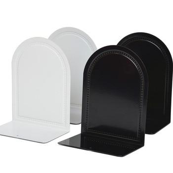 4 Pcs/Set Desktop Organizer Bookends Book Stand Holder Shelf Bookrack Office Supplies Metal Bookend Desk Holder Stationery New недорого