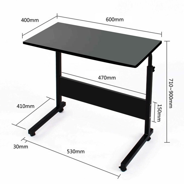 Adjustable Movable Laptop Stand Desk Portable Laptop Table Computer Desk Notebook Laptop Desk Can be Lifted Bed Side Table 5