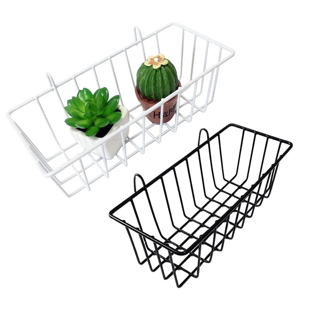 Grid Hanging Basket Iron Wall Mounted Decoration Innovative Flower Pot Shelf Small Items Display Rack Indoor Pendant