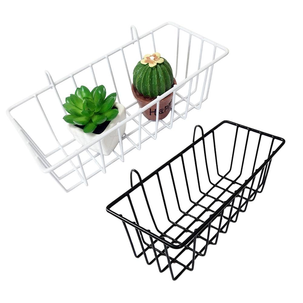 Grid Hanging Basket Iron Wall Mounted Decoration Innovative Flower Pot Shelf Small Items Display Rack Indoor Pendant