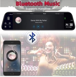 Image 4 - Bluavido 10 אינץ מראה מקליט 4G אנדרואיד 8.1 GPS דאש מצלמת FHD 1080P מבט אחורי מצלמה ADAS רכב DVR WiFi Bluetooth רכב גלאי