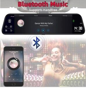 Image 4 - Bluavido caméra de tableau de bord avec rétroviseur, 10 pouces, enregistreur 4G, Android 8.1, GPS, FHD 1080P, ADAS, DVR, détecteur pour voiture, wi fi, Bluetooth