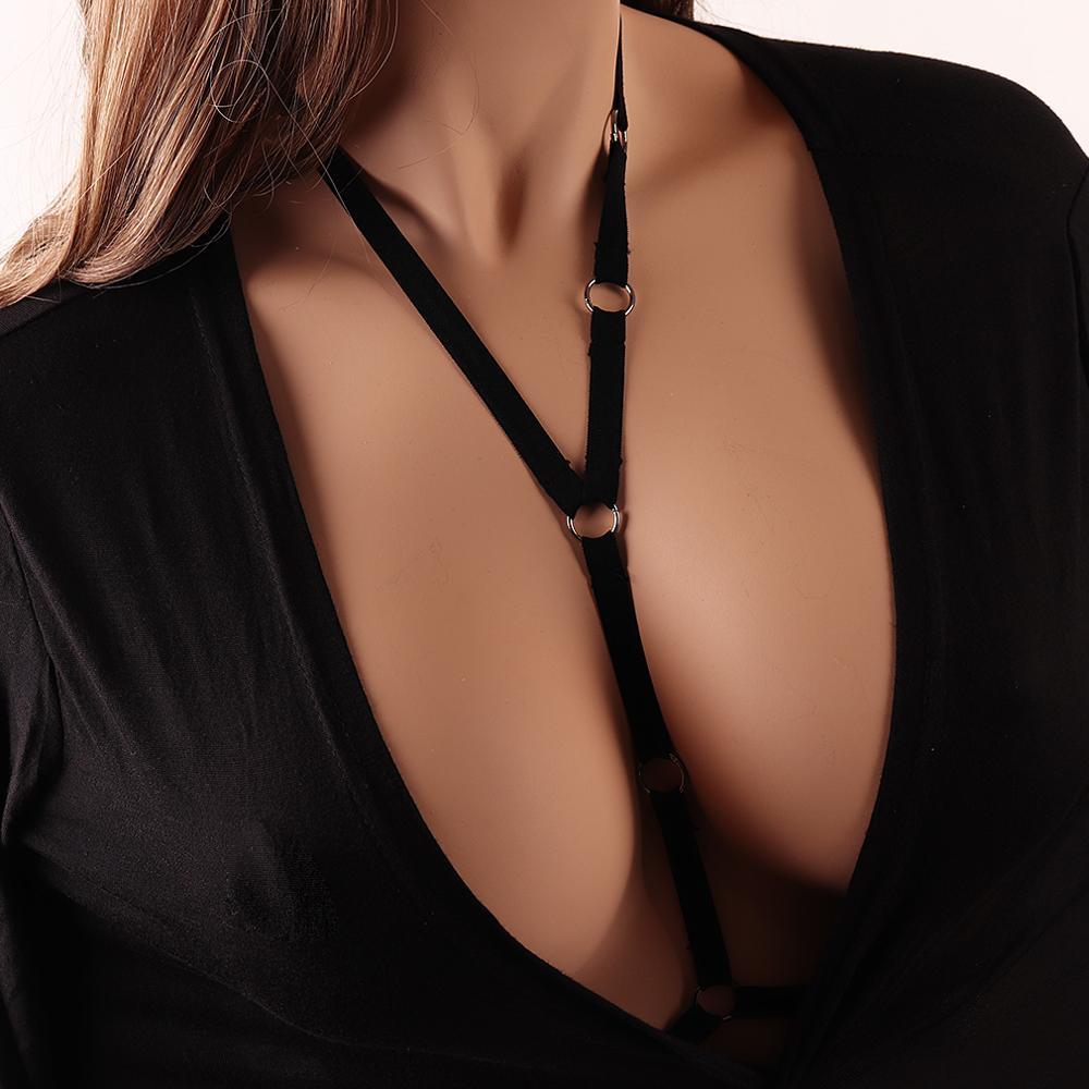 Pentagram Sword Belt Sexy Ladies Women Body Harness Bra Chest Bondage Erotic Lingerie Cage Bra Gothic Garter Belt Suspenders