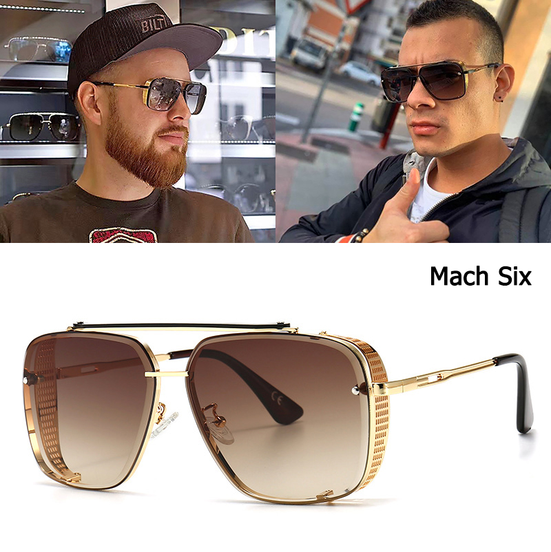 Jackjad 2020 moda mach seis edição limitada estilo óculos de sol legal vintage escudo lateral design da marca óculos sol oculos de sol