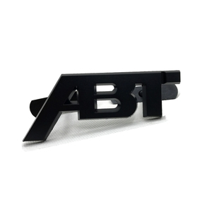 Matte Black ABT Zinc Alloy Metal Badge Sticker Emblem Wheel Center Caps For A6 A8 S6 S8 Car Front Grille Gille Trunk Lid