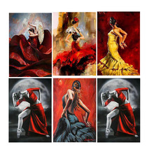 Full Square Drill 5D DIY Diamond Painting Women Dance Art Living Room Home Decoration Round Embroidery Picture