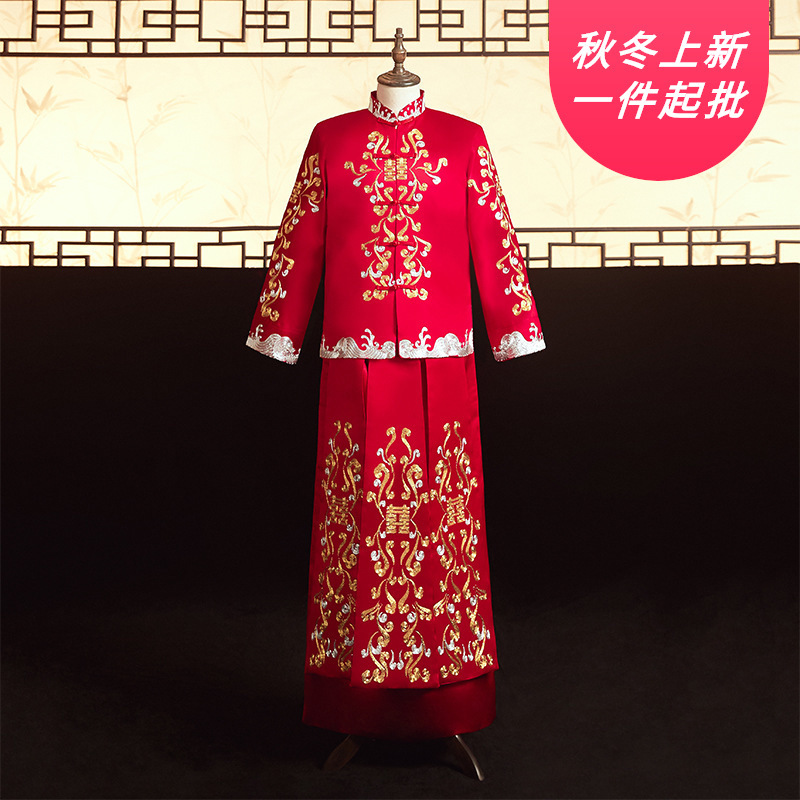 2020 Sale Limited Groom Tuxedo He Suit, Bridegroom, Spring And Summer 2020, Ancient Wedding Tang Men's Chinese Dress Wholesale