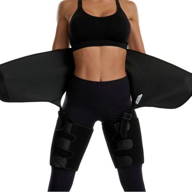 Adjustable Waist Bandage Sweat Body Shapers Slimming One-piece Hip Belt Arm Sweat Belt Buttocks Trainer Shaper Belt 5