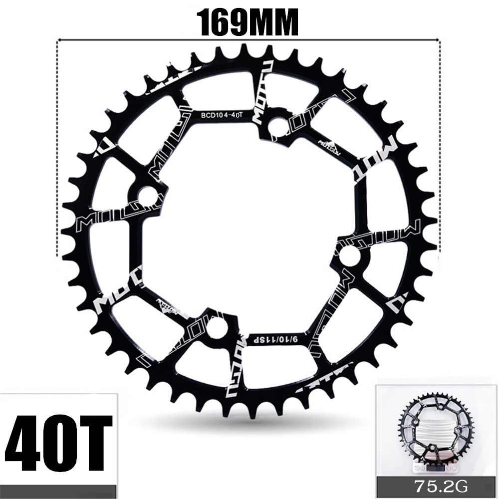จักรยาน Chainwheel 104BCD Crank รอบรูปร่างแคบกว้าง Chainring CNC 40 T/42 T/44/46 t/48 T/50 T/52 T/MTB Crankset จักรยานอะไหล่