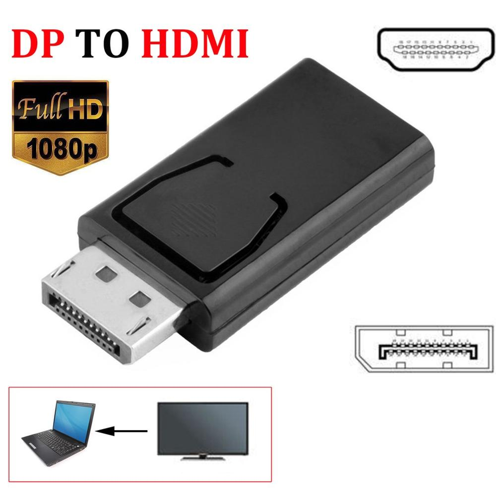 <font><b>Mini</b></font> Display Port DP <font><b>to</b></font> 1080P <font><b>HDMI</b></font> <font><b>Adapter</b></font> Cable Male Female Converter Cable <font><b>Adapter</b></font> Video Audio Connector for HDTV PC Computer image