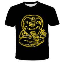 Moda odzież dla dzieci tajski jadowity wąż Cobra Kai T Shirt nastolatki Crewneck Casual topy i koszulki chłopcy 3d drukuj Funny T-Shirt