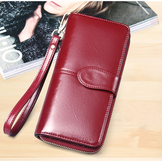 PU Leather Long Wallet