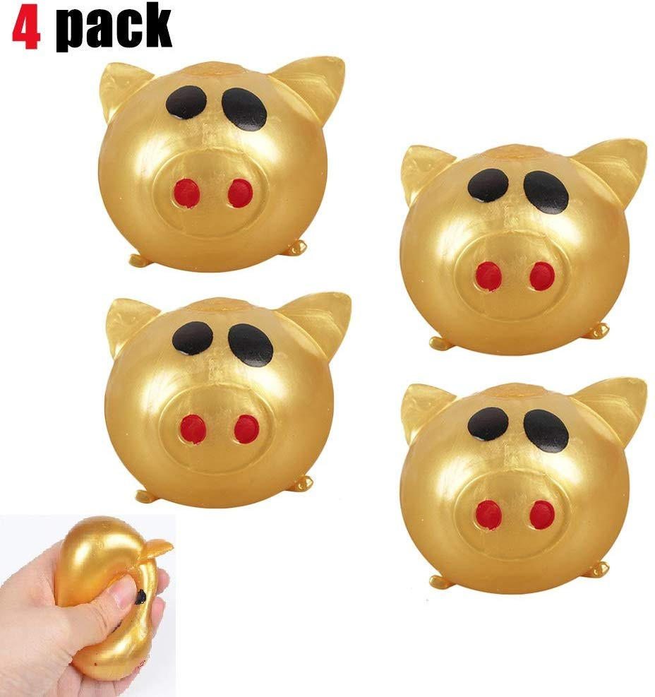 Anti-stress Splat Ball Vent Toy Smashs Various Styles Pig Toys 4pcs Glowing Toy Vent Can Smashs Creative Vent Pig L0119