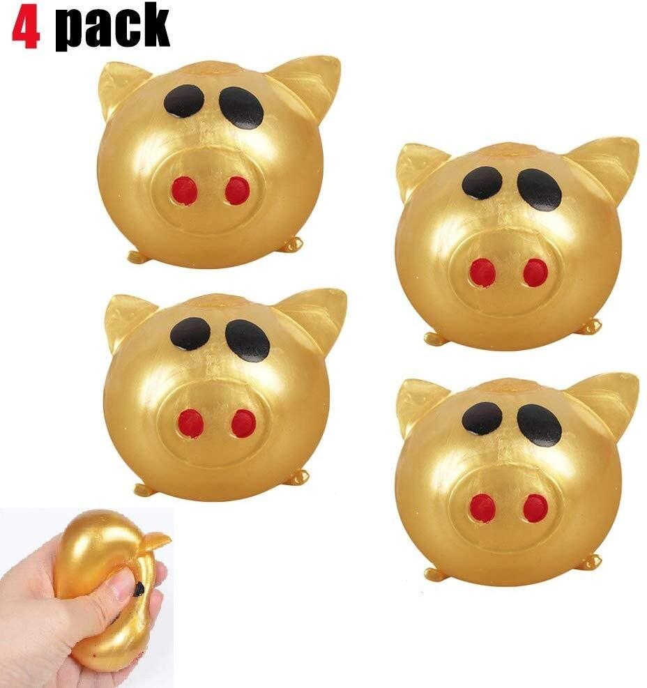 Anti-stress Splat Ball Vent Toy Smashs Various Styles Pig Toys 4pcs Glowing Toy Vent Can Smashs Creative Vent Pig L0119