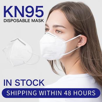 100 sztuk KN95 maska ochronna maska ochronna na twarz odporna na kurz maska przeciwsmogowa Anti Fog FFP2 maska z filtrem tanie i dobre opinie LUEROD Chin kontynentalnych GB2626-2006 Anti-fog PM2 5 Protective MasK folding type mouth mask KN95 N95 FFP2