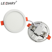 LEDIARY 100V-240V 6W 20W LED Spot Panel Light Cut Hole Adjustable 50mm to 210mm SMD Driverless Downlights Recessed Ceiling Lamp