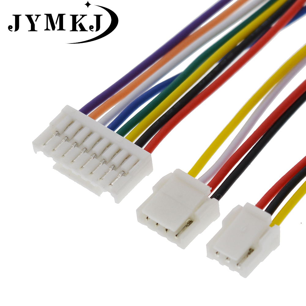10 PCS 2P/3P/4P/5P/6 Pin JST GH Series 1.25 Connector With Wire 100MM/150MM 1007 28 AWG GH1.25 1.25MM