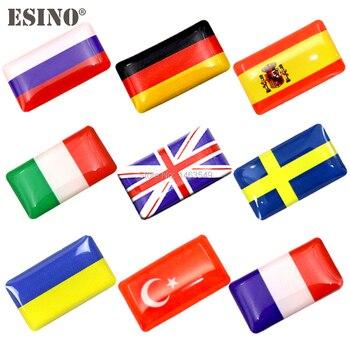 2 x nuevo diseño de pegatinas adhesivas 3D decorativas para Estilismo de automóviles, insignias de pegatinas de diseño para automóviles, calcomanía del Motor personalizada de emblemas para banderas nacionales