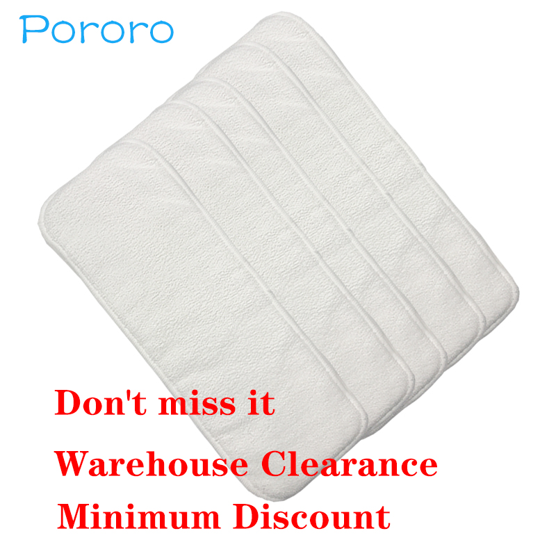 [Pororo] Cheaper Than Freeshopping 1 Pc Washable Reuseable Baby Cloth Diapers 3 Layers Microfiber Nappy Inserts Size:13.5*35cm