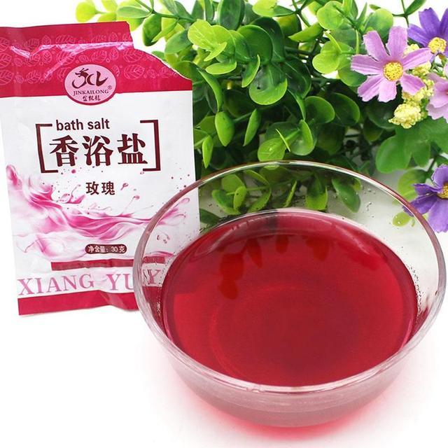 1 Bag Bath Sea Salts Exfoliator Rose Powder Shower Body Foot Massager Skin Care Spa Exfoliation Bath Salt 5