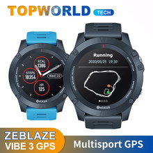 Новинка 2020, Смарт-часы Zeblaze VIBE 3 с GPS, пульсометром, несколькими спортивными режимами, водонепроницаемые, с лучшим сроком службы батареи, GPS-ча...