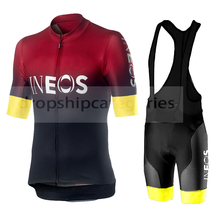 New Pro Team INEOS cycling jersey set Maillot ropa ciclismo hombre clothes Men Summer Bike Jersey mens clothing gel pad