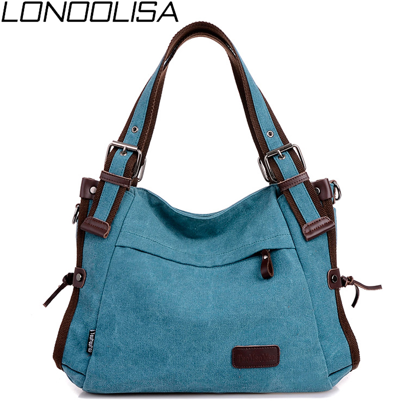 Vintage Canvas Women Shoulder Bag High Quality Crossbody Bags For Women Large Capacity Ladies Travel Hand Bags Casual Messenger