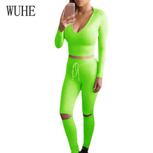 WUHE Hooded Drawstring Dig Knee Trousers Fashion Running Fitness Sports Casual Womens Two Pieces Sets Playsuits Femme Jumpsuits
