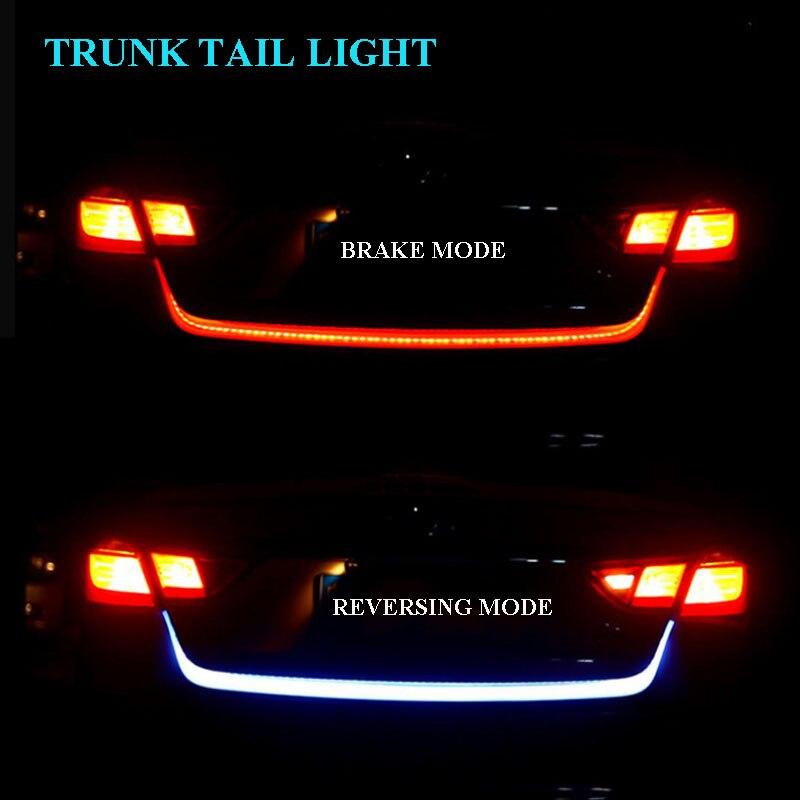 Für KIA NIRO 2017 2018 2019 2020 Auto Stamm Licht 12V Bremse Blinker Lampe Dynamische Streamer Reverse Warnung LED Streifen