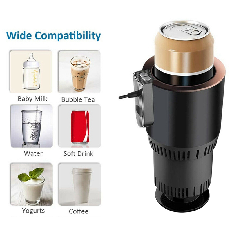 Cooler Cup-Warmer Beverage Electric And with Temperature-Display for 12V3A Heating-Mug