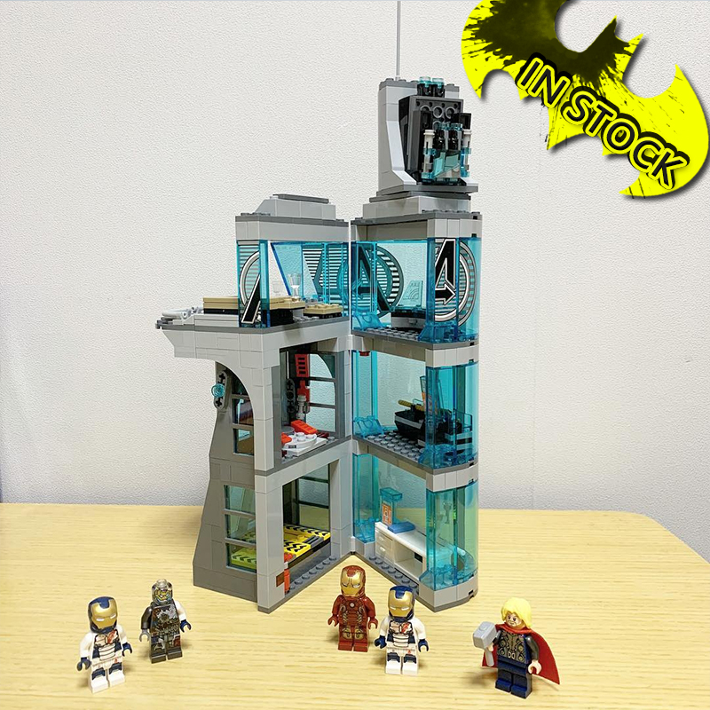 In stock 7114 Movie The Tower 511Pcs Building Blocks Compatible <font><b>76038</b></font> Bricks Super Heroes Infinlty Wars Ironman image