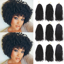 Marly Jerry curl Jamaican Crochet Hair 3 packs Ombre Crochet Braiding Hair Extensions Synthetic Afro Kinky Curly for Women cheap MODERN QUEEN High Temperature Fiber Marley Braids 3strands pack Pure Ombre color different 12 colors available 8 inch 90 + - 5 grams each