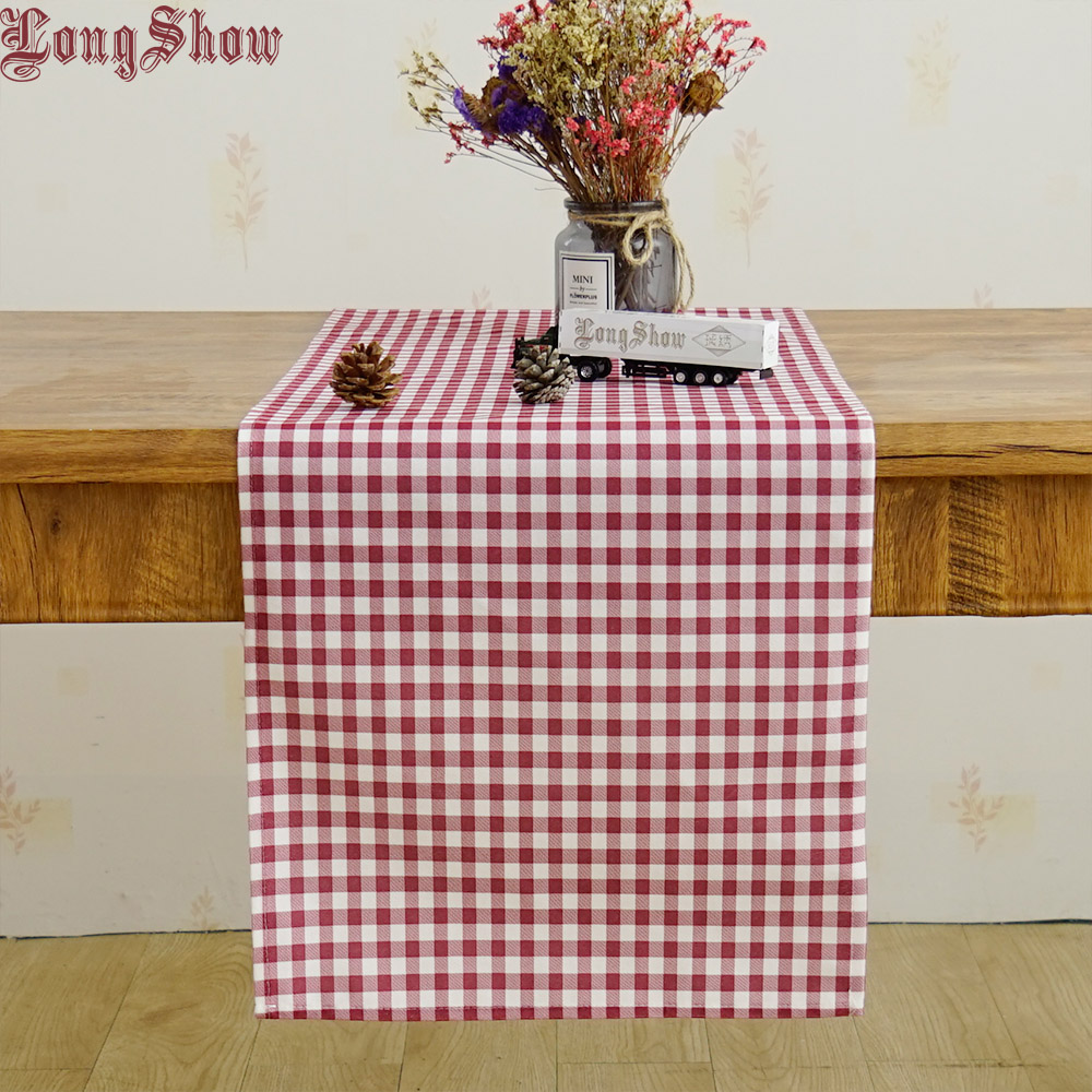 LongShow Newest Elegant 33x140cm Soft Colorful Waves Printed Plushed Cloth Table Runner