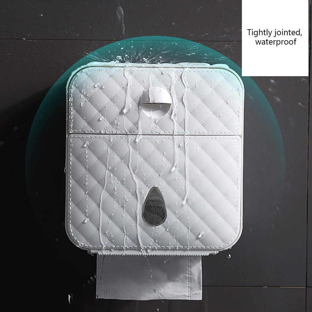 Soporte de rollo de papel higiénico impermeable soporte de toalla montado en la pared Wc rollo de papel soporte caja de almacenamiento de tubo accesorios de baño