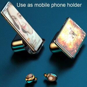 Image 4 - BluetoothワイヤレスイヤホンF9 twsイヤホンスポーツヘッドフォン低音ノイズキャンセルヘッドセット型充電ボックス