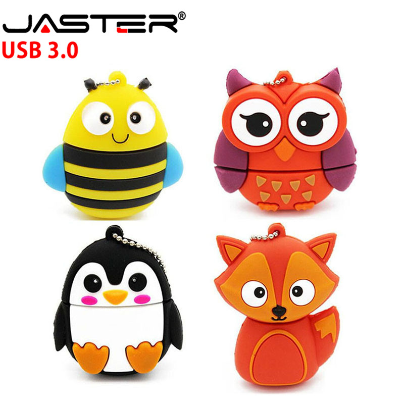 JASTER 3.0 Lovely Fox Model Usb Flash Drive Animal Pendrive Cartoon 4gb 8gb 16gb 32gb Pendrives Usb 3.0 Memory Stick U Disk