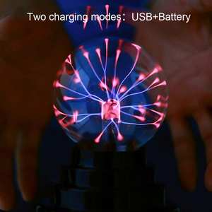 Lightning Sphere Party-Lamp Plasma-Ball USB Magic Glass Black Base with Usb-Cable Hot-Selling